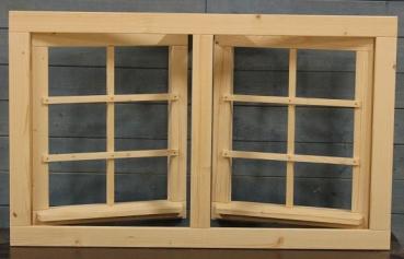 gartenhausfenster doppelfenster 111x68cm zum ffnen drehbeschlag 6 sprossenfelder jp holzdesign. Black Bedroom Furniture Sets. Home Design Ideas