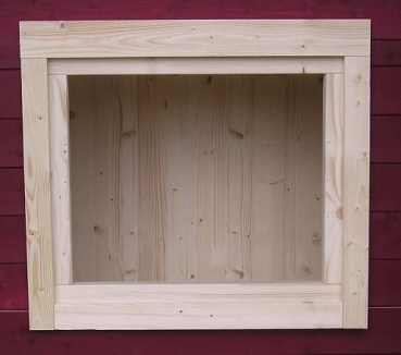 Gartenhausfenster 70x60cm abdeckrahmen ra3 jp holzdesign for Fenster 70x60