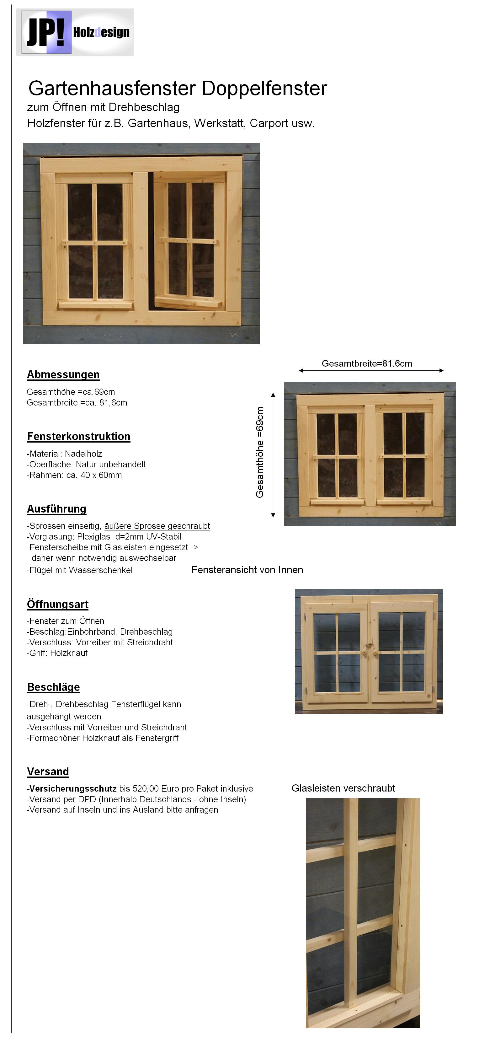 gartenhausfenster carportfenster holzfenster fenster. Black Bedroom Furniture Sets. Home Design Ideas